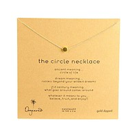 dogeared - dainty minimalist 'circle necklace', Gold Dipped