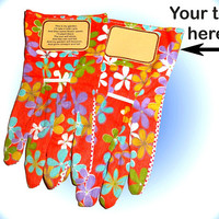 Personalized Gloves, Personalized Garden Gloves, Personalized Work Gloves, Gloves, Gloves. Beautiful Gift Keepsake Personalized Gloves Gift
