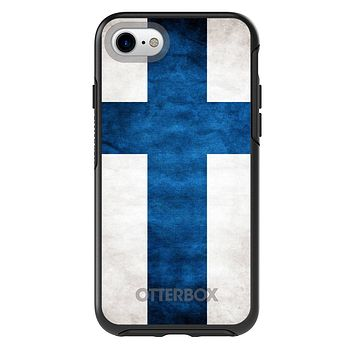 DistinctInk™ OtterBox Symmetry Series Case for Apple iPhone or Samsung Galaxy - Finland Old Flag