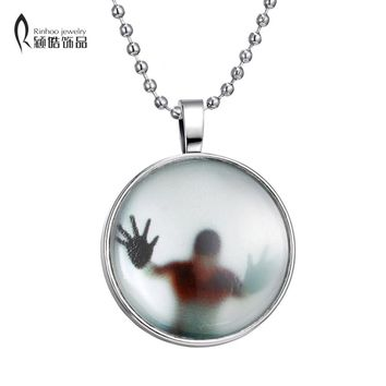 Fire Glow in the Dark Glowing Shadow Pendant Necklace