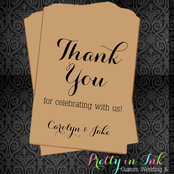 WB37 – Thank You Favors, Wedding Favors, Candy Station, Last Names, Favors, Wedding Candy Bags, Popcorn Bags, Cookie Bags