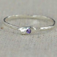 Freeform Amethyst Ring