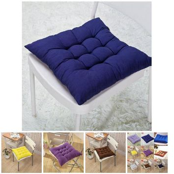 40x40CM Comfortable Bar Chair Sofa Pillow Winter Home Office Decor Seat Cushion Solid Color Buttocks Chair Cushions Hot