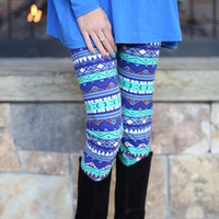 Blue Kind of Chirstmas Leggings