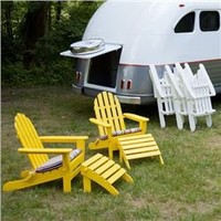 Classic Folding Adirondack Chair and Ottoman Set