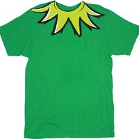 The Muppets Kermit the Frog Costume Green Adult T-shirt