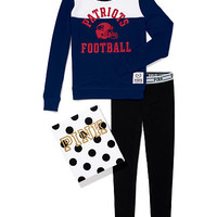 New England Patriots Crew and Logo Waist Leggings Gift Set - PINK - Victoria's Secret