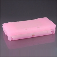 Protective Soft Silicone Case Cover for Nintendo 3DS (Pink)