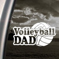 Volleyball Dad Decal Car Truck Bumper Window Sticker