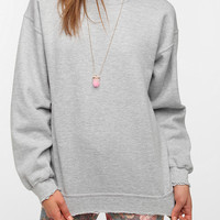 Urban Outfitters - Junk Food Solid Destroyed Crew Sweatshirt