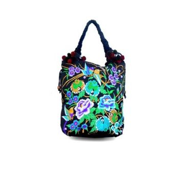 Medium Embroidered Hmong Summer Tote Bag Purse Thailand WHOLESALE AVAILABLE