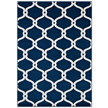 Beltara Chain Link Transitional Trellis 8x10 Area Rug - R-1129B-810