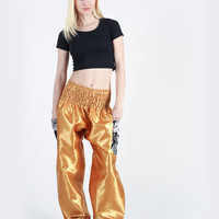 Rombo Gold Harem Pants