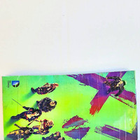 Upcycled Suicide Squad Comic Book Clutch Purse - Handbag