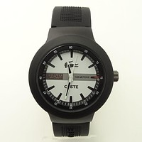 Lacoste male and female hit color fashion reflective watch F-SBHY-WSL Black crocodile pattern