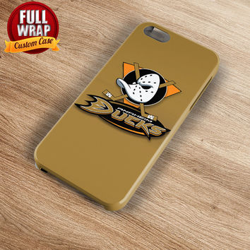 Anaheim Ducks Brown Logo HockeyTeam Full Wrap Phone Case For iPhone, iPod, Samsung, Sony, HTC, Nexus, LG, and Blackberry