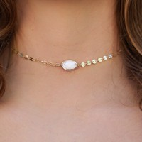 Oh So Good Choker - Marble