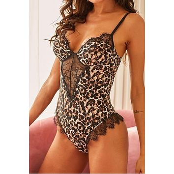 Leopard & Lace Teddy