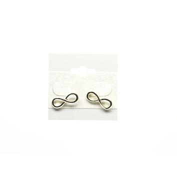 Infinity Gold Plated Stud Earring
