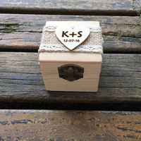 Wooden Wedding Ring Box and Wedding Ring Bearer