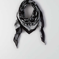 AEO Black + White Bandana , True Black