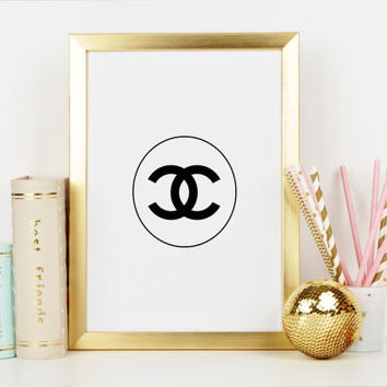COCO CHANEL LOGO,Chanel Print,Coco Chanel Wall Art,Coco Chanel Sign,Chanel Poster,Fashion print,Fashionista,Wall Art,Gallery Wall Art