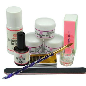 MDIGV2S Coscelia Nail Art Acrylic Nail Powder Liquid Brush Manicure Sets