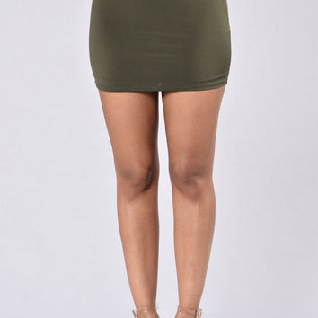 Shame On You Skirt - Olive