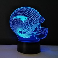 Team Logo New England Patriots 3D Night Light Sport Cap Bedside lamp BULBING Optical Illusion LED Desk Table Lampe For NFL Fans