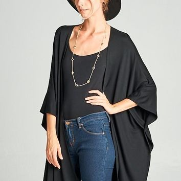 Black Oversized Cardigan