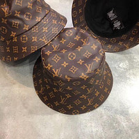 LV Louis Vuitton Women Men Fashion Sunhat PU Cat