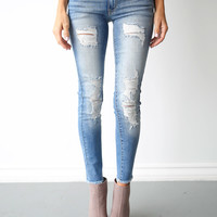 Everyday Frayed Skinnies