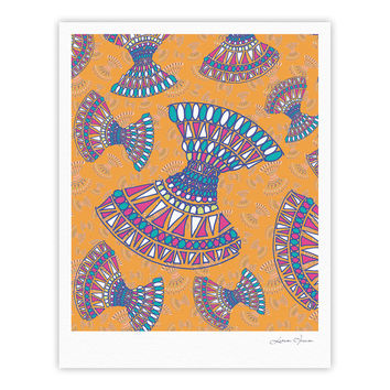 "Miranda Mol ""Tribal Fun Orange"" Abstract Tangerine Fine Art Gallery Print"