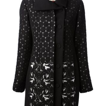 Isola Marras Geometric And Paisley Patterned Coat