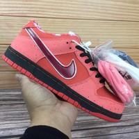 KUYOU  Nike SB Dunk Low x Concepts 313170 661 Nike joint red lobster Low top skate man