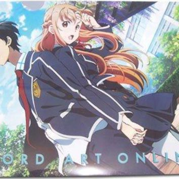 Sword Art Online II File Folder - Kirito & Asuna School Uniform
