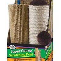 Four Paws Super Catnip Scratching Post Cat Scratcher 21""
