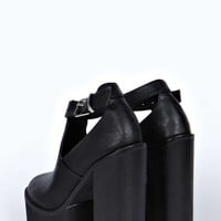 Primrose Ankle Strap Cut Out Cleated Heel