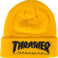 Thrasher Embroidered Logo Beanie Yel/Black