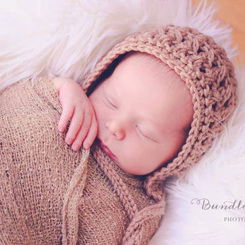 Crochet Pattern for Unisex X-Factor Baby Bonnet - 5 sizes, newborn to child - Welcome to sell finished items