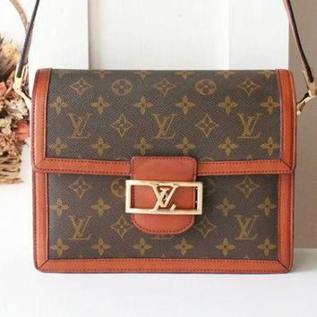 PEAPYD9 Louis Vuitton Handbag Monogram Vintage Authentic Shoulder Bag 80s Rare