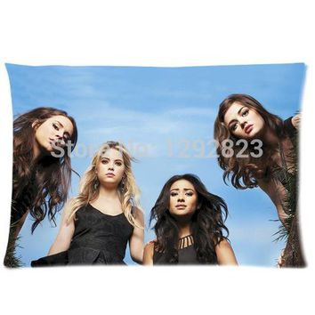 DIY Pretty Little Liars Custom Zippered Comfortable Flannel Pillow case 20x30 (one side) PC-1121