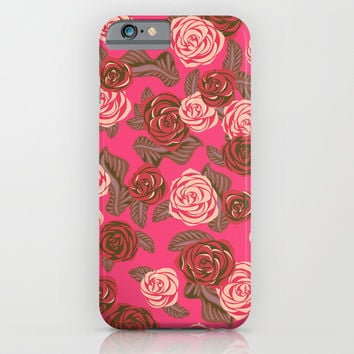 Vintage Roses #3 iPhone & iPod Case by Ornaart