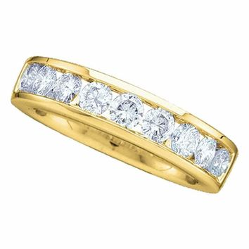 14kt Yellow Gold Women's Round Channel-set Diamond Wedding Band 1-6 Cttw - FREE Shipping (US/CAN)