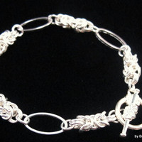 Byzantine and Oval Ring Bracelet