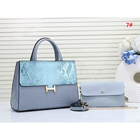 Hermes Fashion New Leather Shoulder Bag Shopping Leisure Women Handbag Two Piece Suit Bag 7#
