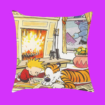 Calvin and Hobbes Design - Pillow Case, Rectangle Pillow One Side/Two Sides.