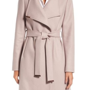 Ted Baker London Wool Blend Long Wrap Coat | Nordstrom