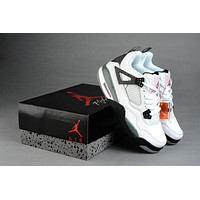 Air Jordan 4 Retro Aj4 308497 027 White/gray Basketball Sneaker Size Us 5.5 12 | Best Deal Online