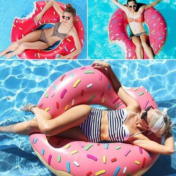 Thicken PVC Donuts Inflatable Swimming Ring Pool Beach Swimming Float